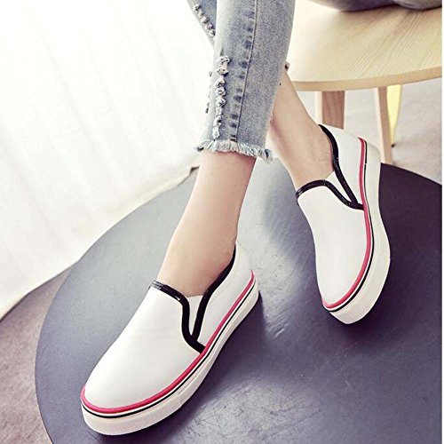 Angelliu Womens Hit Couleur Casual Toile Style Universitaire Appartements Sneakers Noir