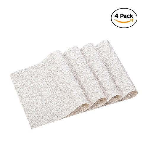 Washable Placemats Heat Insulation Non-slip Table Mats for Kitchen Dining Set of 4 - Best In New Shops Soho York