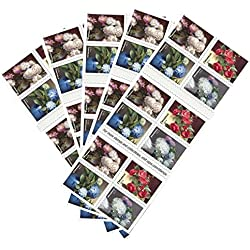 USPS Forever Stamps, Flowers From the Garden - Book of 20 - 2017 (5 Books of 20 Stamps)