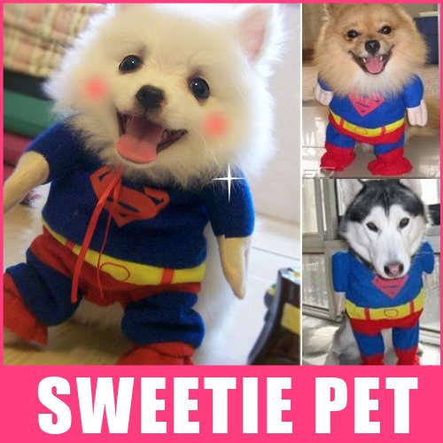 Costume National Suit (Unpre (TM) Pet Dog Clothes Dog Superman Costumes Suit dog funny clothing XS,S, M,L,XL)