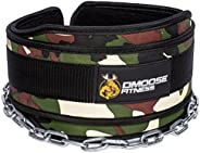 DMoose Fitness Neoprene Dip Belt with Chain for Weight Lifting, Pull ups, Powerlifting and Bodybuilding Workou