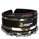 """Cheap DMoose Fitness Premium Dip Belt with Chain – 36"""" Heavy Duty Steel Chain, Comfort Fit Neoprene, Double Stitching – Maximize Your Weightlifting & Bodybuilding Workouts …"""