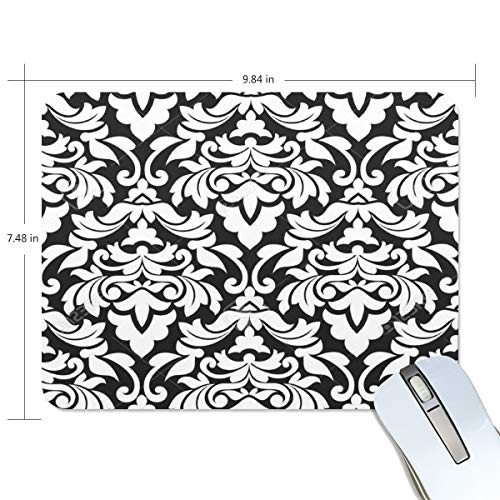- Funny Mouse Pad Personalized Black and White Designs Patterns Rectangle Shape for Office Computer Work (9.84 x 7.48 inch)