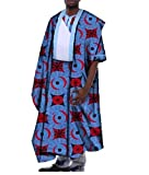 YUNY Men's African Dashiki Gowns Plus Size Batik Relaxed-Fit T Shirts Four 4XL