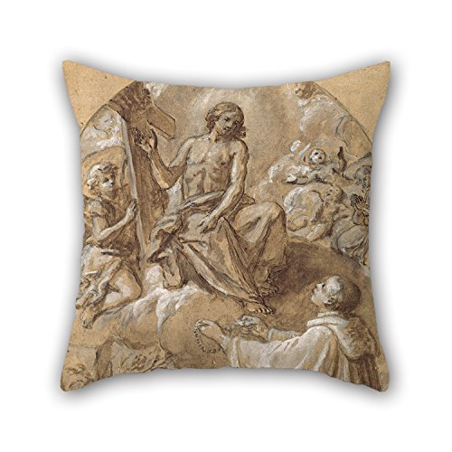 Loveloveu The Oil Painting Marco Benefial - Christ Appears To Blessed Michael Of Camaldoli Throw Cushion Covers Of ,18 X 18 Inches / 45 By 45 Cm Decoration,gift For Bf,kids Girls,boy (Marco Polo Costume)