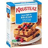 Krusteaz Belgian Supreme Waffle Mix, 28 oz box (Pack of 4)