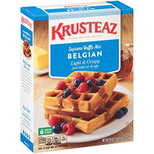 Krusteaz Belgian Supreme Waffle Mix, 28 oz box (Pack of 12)