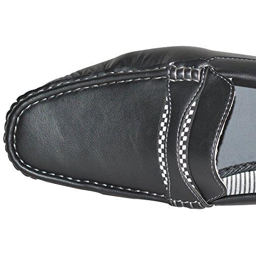 Herren Mokassins Halbschuhe Fahren Freizeit Schwarz Formelle Ballerinas Schuhe Größe EU 39 7 8 9 10 11 12 (UK 6, Schwarz Einfarbig)