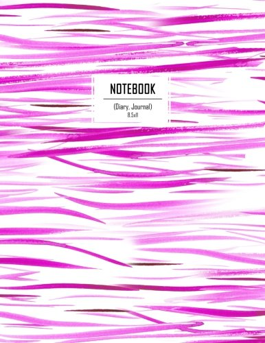 Notebook (Diary, Journal) 8.5x11: Purple Watercolor Stripes Lined Notebook with 110 Inspirational Quotes, Journal for Women to Write in, Journal a4 (Notebooks and Journals) (Volume 1) ebook