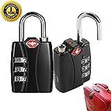 TSATravelLuggageLockswithCombinations,Vanhom Security PadlockBackpack Lock forSuitcase withAlloy Body Red Indicator(2Pack)