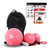 Product review for Massage balls for Deep Tissue Massage, Yoga, Crossfit, Trigger Point and Myofascial Release. Includes 1 XLarge Massage ball and 2 Lacrosse Size Balls w/ mesh bag. (Medium Firm)