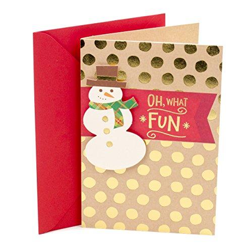 Hallmark Christmas Card (Snowman and Polka Dots) ()
