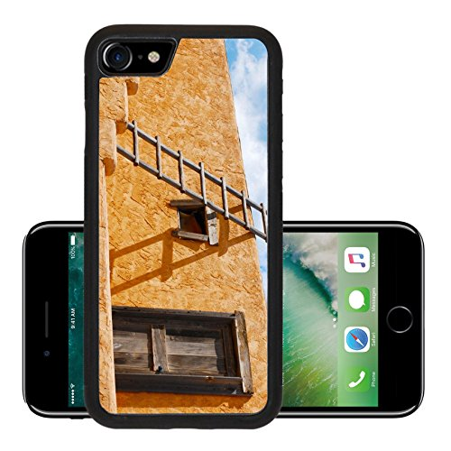 Liili Premium Apple iPhone 7 iPhone7 Aluminum Backplate Bumper Snap Case Ladder on a Southwest style stucco building in New Mexico Photo 5582368