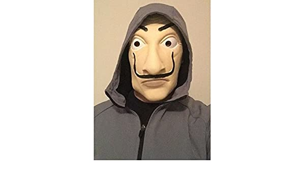 Amazon.com: 2 Piece 2018 La Casa De Papel Salvador Dali Mask ...