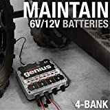 NOCO Genius G4 6V/12V 4.4 Amp 4-Bank Battery Charger and Maintainer
