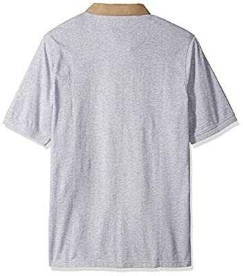 Sean John Men's Big and Tall Short Sleeve Textured Polo, Grey Mix Heather, 3XL