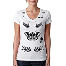 Allntrends V Shirt Harry Style Tattoo One Direction Shirt