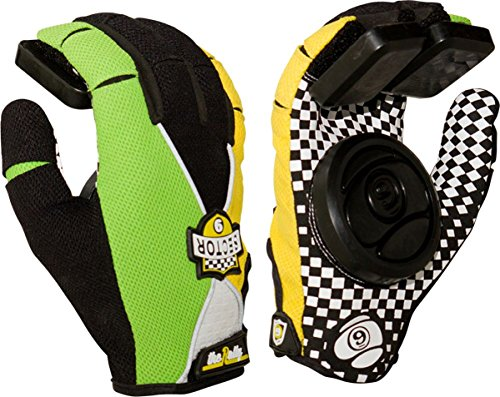 Sector 9 Rally Slide Gloves Youth Large Xlarge Green Yellow Black Skate Pads (Sector Nine Skate Gloves)