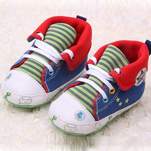 Ochine Bebe Nino Caricatura Impresa Zapatos Casual Fondo Suave Nino Zapatillas Rojo
