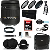Sigma 18-250mm f3.5-6.3 DC MACRO OS HSM for Canon Digital SLR Cameras + Deluxe Accessory Kit