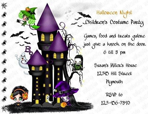 Personalized Halloween Invitation (halloween130) (sold in packs of (Personalized Halloween Invitations)