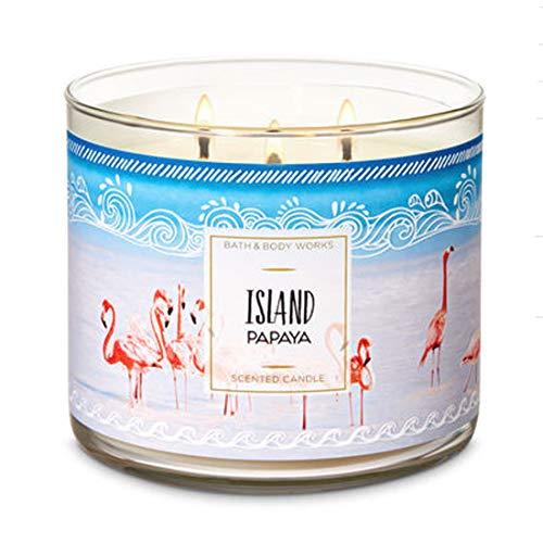 Bath & Body Works ISLAND PAPAYA 3-Wick Candle 14.5 oz / 411 g
