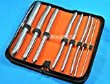 New German Grade Non-Magnet 8 Piece Dilator Set with Pouch - HEGAR Sounds Dilator Set