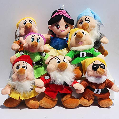 Seven Dwarfs Snow - hkp New 8pcs/lot The Princess Snow White and The Seven Dwarfs Soft Plush Doll Toys