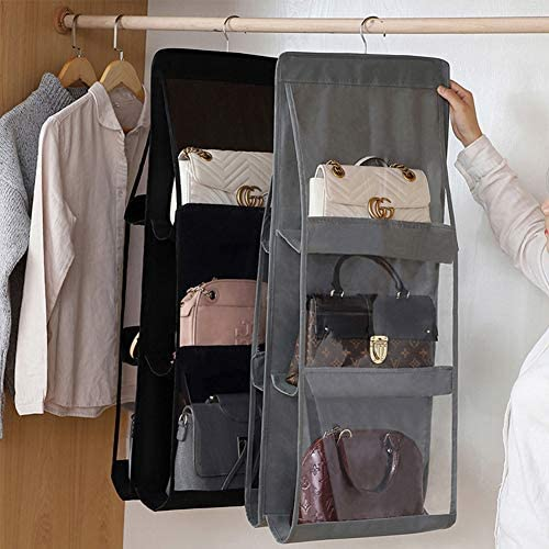 OLOEY Hanging Clutch Garment Bag Lightweight Clear Suit Bags Set of 6 Breathable Dust Cover for Closet Clutch Purse Storage