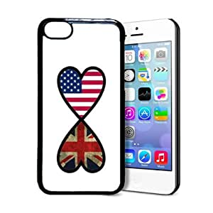 fashion case American British Forever United Kingdom Flag Infinity Forever iPhone Thinshell Protective Plastic iphone 5s Case