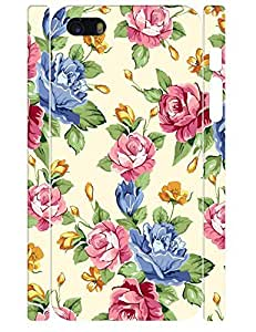 Custom Cute Flower Pattern Eco TPU Phone Protective Back Cover for Iphone 5 5S