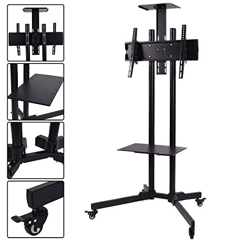 TV Cart Stand Plasma LCD LED Flat Screen Panel with Wheels Mobile Fits 32