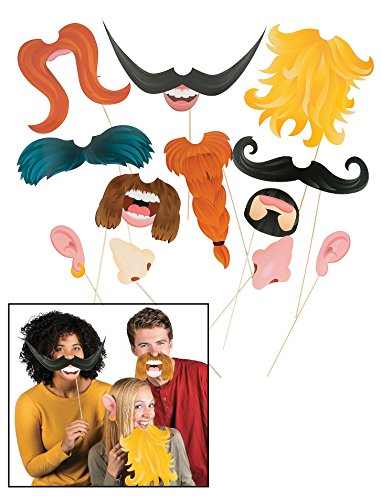 Jumbo Facial Features Photo Stick Props (12 - Shapes Pictures Facial