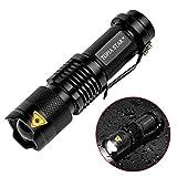 1101 type light flashlight - TOPIA STAR Mini Tactical LED Flashlight Water Resistant Ultra Bright Zoomable Mini Flashlight