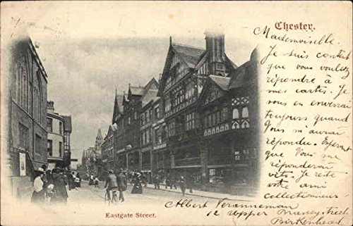 (View of Eastgate Street in Chester Chester, United Kingdom Original Vintage)