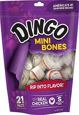 Dingo Rawhide Mini Bones by Dingo