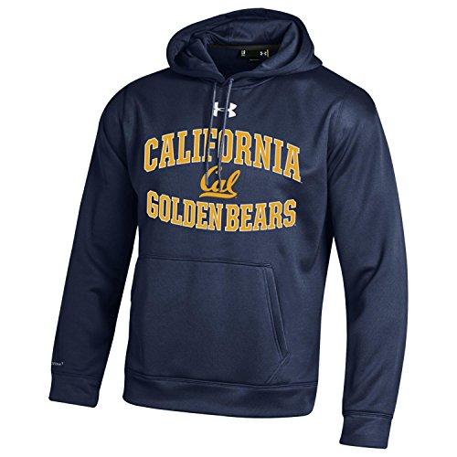 NCAA California Golden Bears Men's Armour Fleece Hoodie, XX-Large, Navy (Ncaa Armour Under)