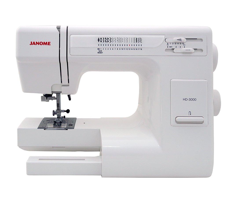 Amazon.com: Janome HD3000 Sewing Machine Bundle with Purple Tote, Janome  bobbins and Needles