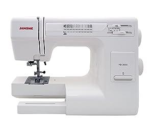 anome HD3000 Heavy Duty Sewing Machine w/Hard Case + Ultra Glide Foot + Blind Hem Foot