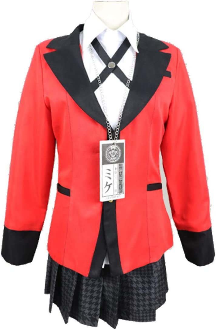 YKJ Anime Costume Cosplay High School Uniform Halloween Party Costume Cosplay per Le Donne Ragazze Set,Suit-XL