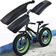 Extrbici 26 inch Snow Bicycle Bike Front Rear Mudguard Cycling Bike Fender for Fat Tire Mountain Bike Mud Guar