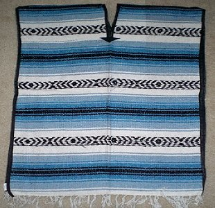 Mexican Blanket Poncho Costume (Blue)
