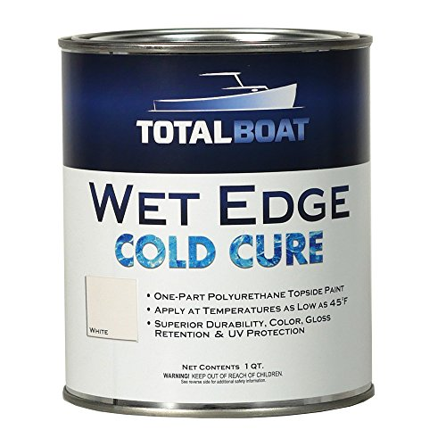 TotalBoat Wet Edge Cold Cure Marine Topside Paint (White, Quart) ()