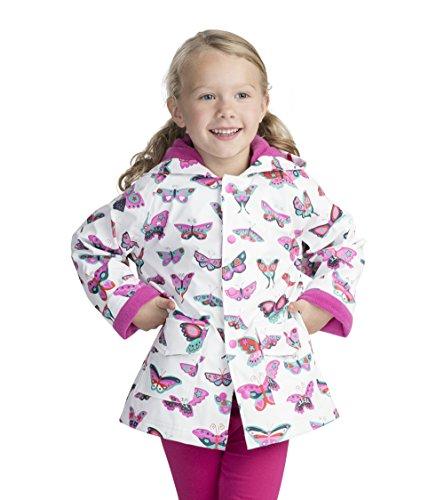 Hatley Girls' Little Printed Raincoats, Groovy Butterflies, 4 Years