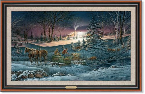 Wild Wings A Helping Hand Framed Master Canvas by Terry Redlin