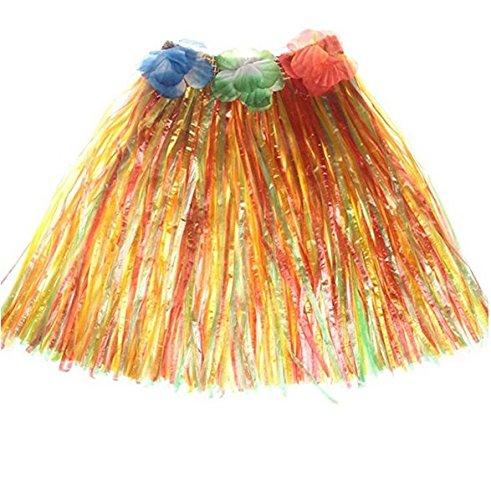 Kentop - Falda Hawaiana para Disfraz Hawaiano, Color Dorado ...