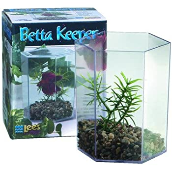 large aquarium betta keeper aquarium tank set of 2 aquarium starter kits pet. Black Bedroom Furniture Sets. Home Design Ideas