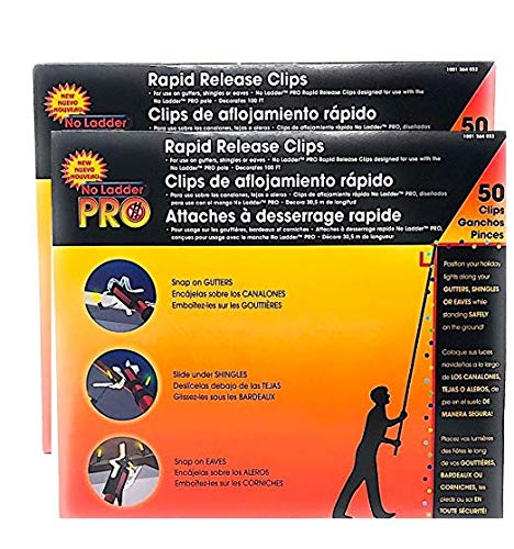 2 Packs of 50 Pro No Ladder Rapid Release Holiday Lights Gutter Clips China