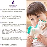 caaocho 100% Pure Natural Rubber Baby Teether Toy
