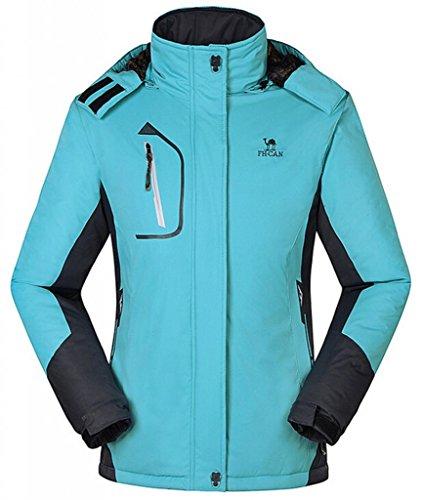 Cloudy Walker Women's Waterproof Mountain Jacket Fleece Windproof Ski Jacket(Blue,S)